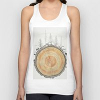 tree rings Tank Tops featuring Tree Rings by dreamshade