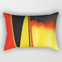 Points and Edges Abstract Rectangular Pillow