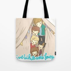One Direction Live Like We're Young Cartoon 2 Tote Bag
