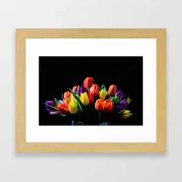 Colorful Tulips Framed Art Print