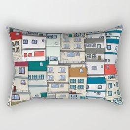 Small Part Of Town Ornament Rectangular Pillow