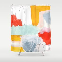 abstract painting XVI Shower Curtain