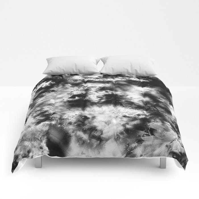 Black and White Tie Dye & Batik Comforters