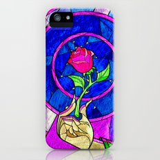 Beauty And The Beast Red Rose Flower iPhone SE Slim Case