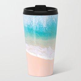 Ocean in Millennial Pink Travel Mug