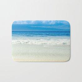 Beach Blue Kapalua Golden Sand Maui Hawaii Bath Mat