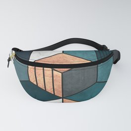 Copper, Marble and Concrete Cubes 2 with Blue Fanny Pack