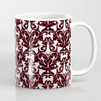 damask Mugs featuring Damask by Annie Skrmetti