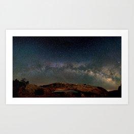 Starry Night Over Mesa Arch Art Print