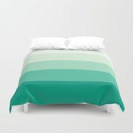 Pastel Green Stripes Duvet Cover