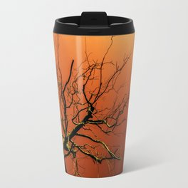 Red Branches of Crimson Dream Surreal Tree Art Travel Mug