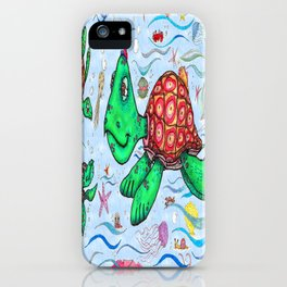 Sea Turtles and their diet iPhone Case