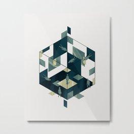 Cube 07 Metal Print