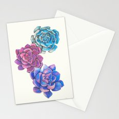 Vibrant Succulents  Stationery Cards