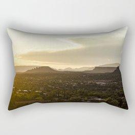 Sedona from the Airport Road Overlook Rectangular Pillow