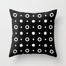 Dots / Black Throw Pillow