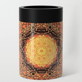 Marigold Mandala Can Cooler