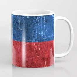 Vintage Aged and Scratched Filipino Flag Coffee Mug