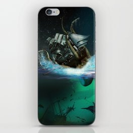 Kraken Attack iPhone Skin