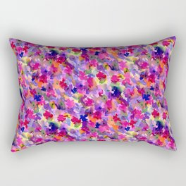 Floral Splash Warm Rectangular Pillow