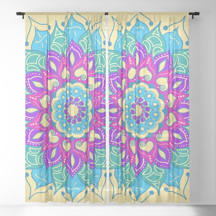 Bright and Beautiful Mandala Sheer Curtain