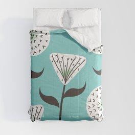 Large Print Dandelion Seeds Spring Summer Pattern Comforters