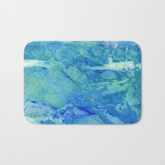 Sea blue marble Bath Mat