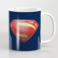 superman Mugs featuring Superman by DeBUM