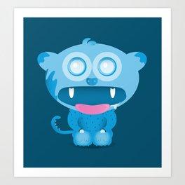 hungry monster Art Print