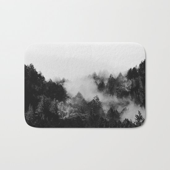 End in fire black & white (requested) Bath Mat
