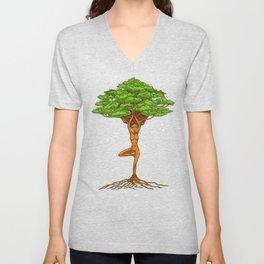 Tree Of Life Zen Yoga Unisex V-Neck
