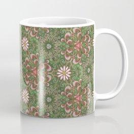 Pink Garden Swirl Pattern Coffee Mug