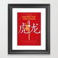 No334 My Crouching Tiger Hidden Dragon minimal movie poster Framed Art Print