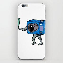 robot camera making selfie iPhone Skin
