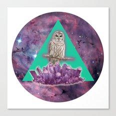 Owl Crystal Canvas Print