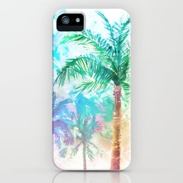 Neon Palm Trees iPhone Case