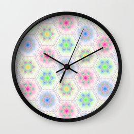 Whipped Cream in Sherbert Colors Wall Clock