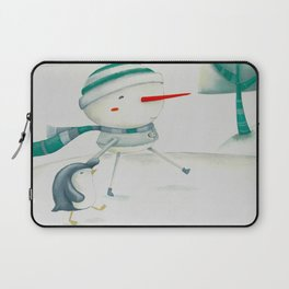 Snowman and friend Laptop Sleeve