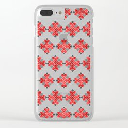 Rodimich - Antlers - Slavic Symbol #3 Clear iPhone Case