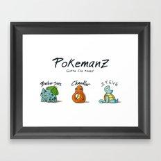 PoKeManZ Framed Art Print