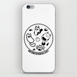 Meowcrobiology iPhone Skin