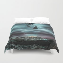 Fall Into The Winter Mood Duvet Cover