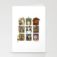 labyrinth Stationery Cards featuring Labyrinth by Steven Learmonth