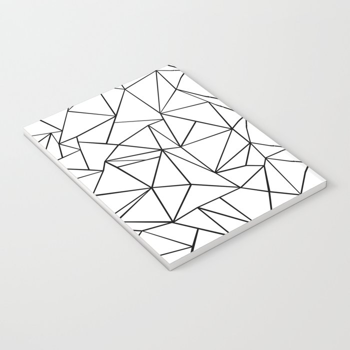 Abstract Outline Black on White Notebook