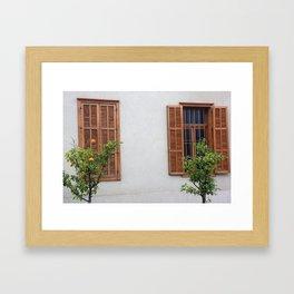 Two windows Framed Art Print