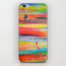 Acrylic Abstract Paint Splatter iPhone Skin