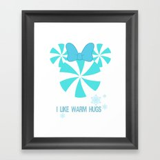 I like Warm Hugs Girl Framed Art Print