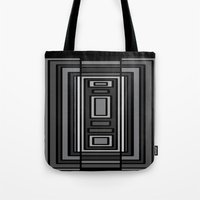 gray pattern Tote Bags featuring Gray by Emma Michels