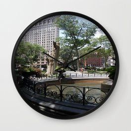 Flatiron From Madison Square Park NYC Wall Clock