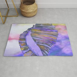 NAUTILUS CONCH SEA SHELL PURPLE IMPRESSIONS Rug